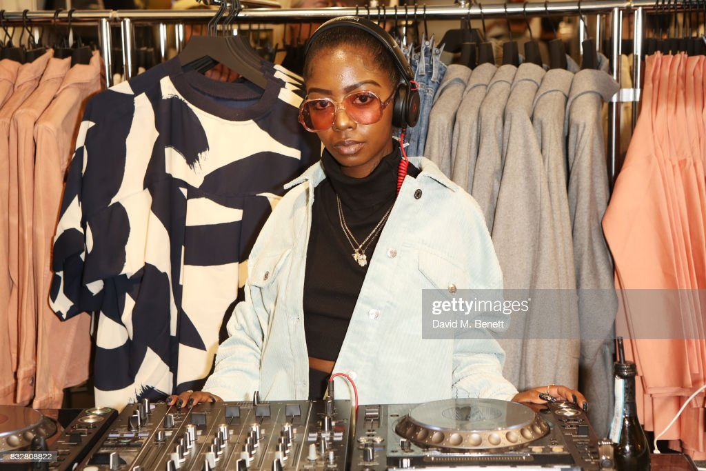 Siobhan Bell DJs at the Weekday store launch on August 16, 2017 in London, England.