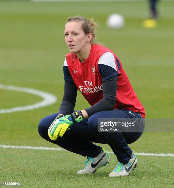 Siobhan Chamberlain of Arsenal Ladies before the match between Arsenal Ladies and Birmingham City Ladies in the UEFA Womens Champions League at The...