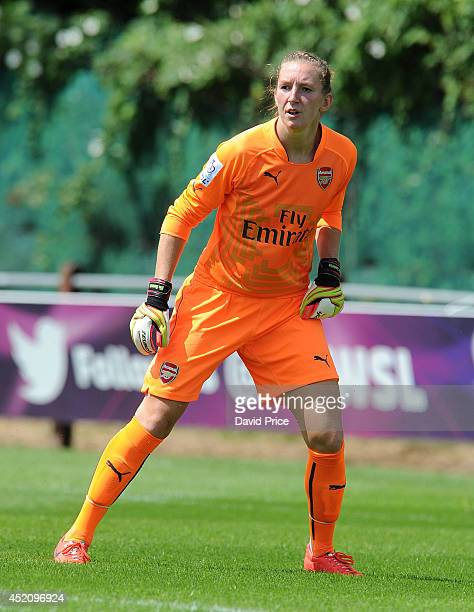 Siobhan Chamberlain of Arsenal Ladies during the match between Millwall Lionessess and Arsenal Ladies in the Womens Continental League Cup on July 13...