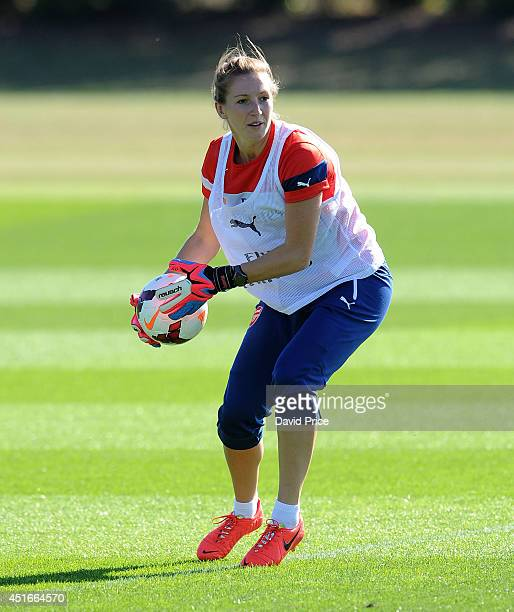 Siobhan Chamberlain of Arsenal Ladies during their training session at London Colney on July 3 2014 in St Albans England