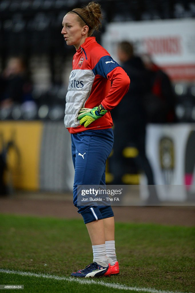 Siobhan Chamberlain of Arsenal Ladies FC at Meadow Lane on April 2 2015 in Nottingham England
