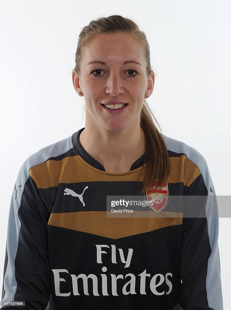 Siobhan Chamberlain of Arsenal Ladies poses at London Colney on March 24 2015 in St Albans England