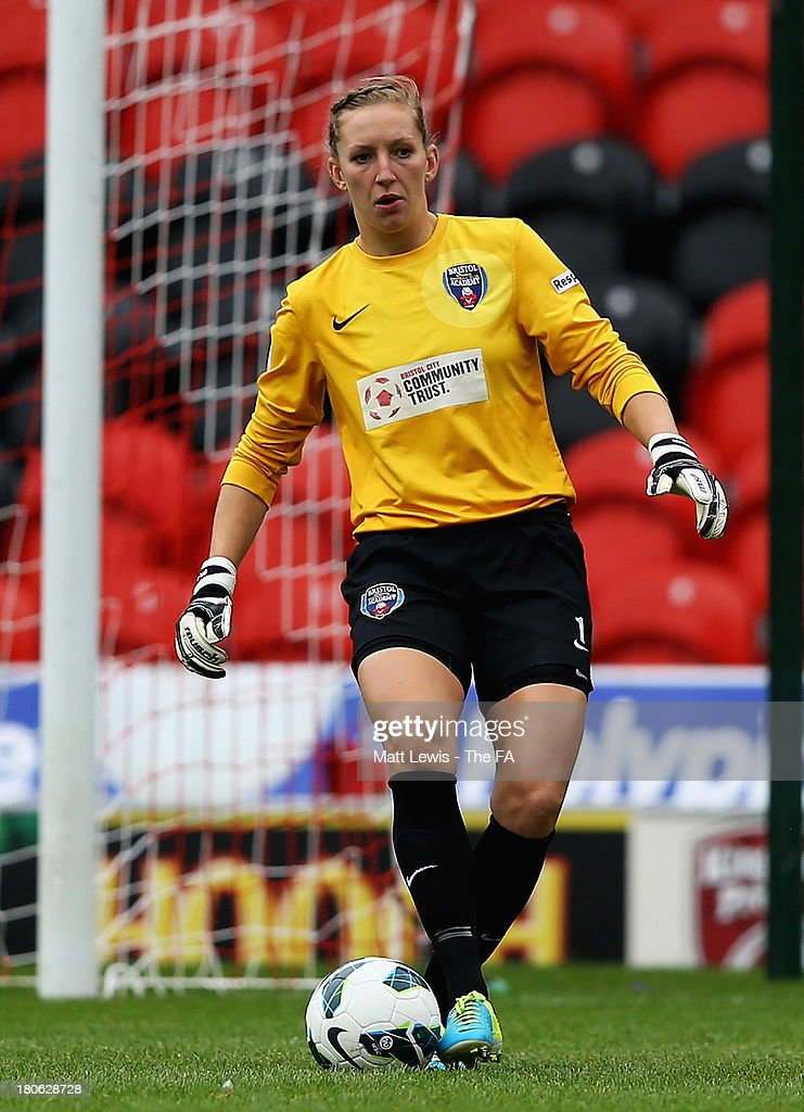 Siobhan Chamberlain of Bristol Academy in action during the FA WSL match between Doncaster Rovers Belles FC and Bristol Academy Women FC at Keepmoat...