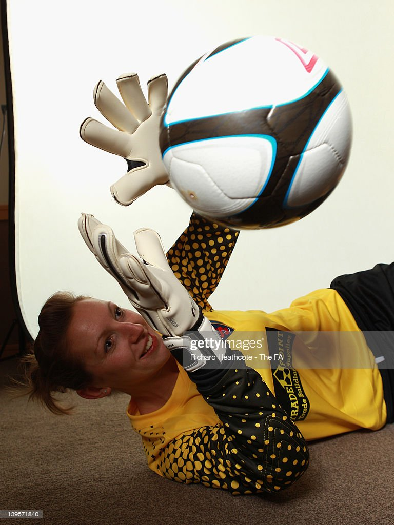 Siobhan Chamberlain of Bristol Academy Ladies poses for a picture during at FA WSL Ambassador Photoshoot at St Andrews Stadium on February 16 2012 in...