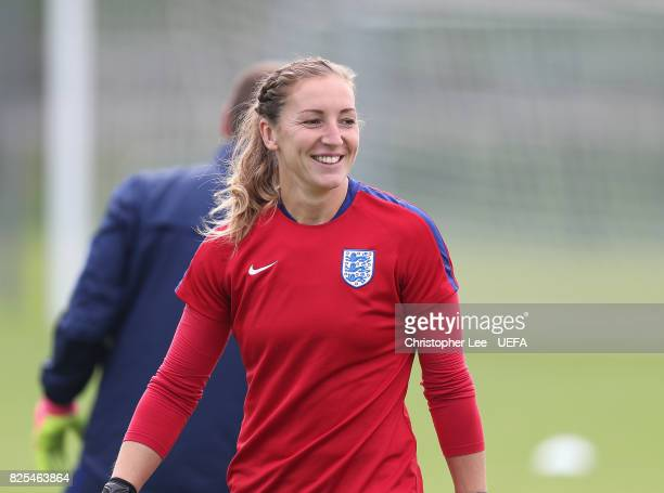 Siobhan Chamberlain of England during the England Training Session at Sporting 70 on August 2 2017 in Utrecht Netherlands