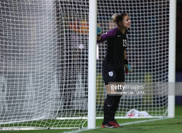 Siobhan Chamberlain of England in action during the UEFA Women's Euro 2017 Quarter Final match between England and France at Stadion De Adelaarshorst...