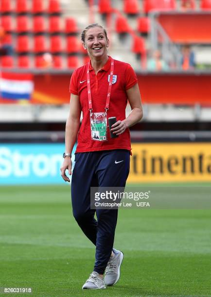 Siobhan Chamberlain of England looks on ahead of the UEFA Women's Euro 2017 Semi Final match between Netherlands and England at De Grolsch Veste...