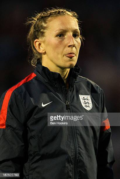 Siobhan Chamberlain of England looks on prior to the FIFA Women's World Cup 2015 Group 6 Qualifier match between England and Turkey at Fratton Park...