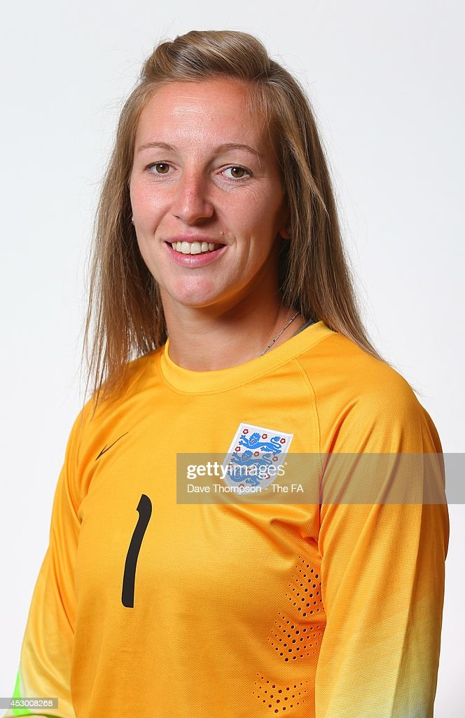 Siobhan Chamberlain of England poses for a studio portrait at St George's Park on July 31 2014 in BurtonuponTrent England