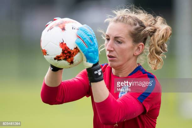 Siobhan Chamberlain of England warms up during the England Training Session at Sporting 70 on August 2 2017 in Utrecht Netherlands