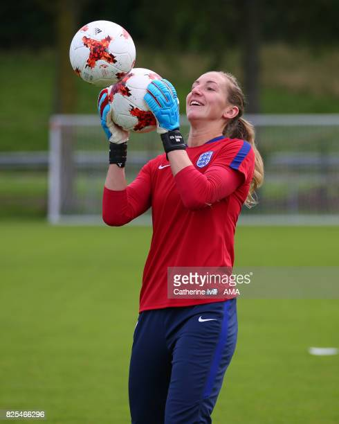 Siobhan Chamberlain of England Women during an England Training Session on August 2 2017 in Utrecht Netherlands