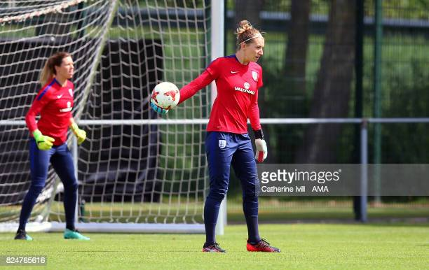 Siobhan Chamberlain of England Women during an England Women training session on July 31 2017 in Utrecht Netherlands