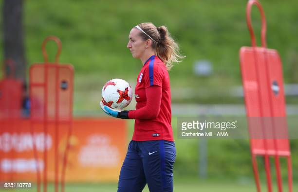 Siobhan Chamberlain of England Women during the England Training Session in Utrecht on August 1 2017 in Utrecht Netherlands