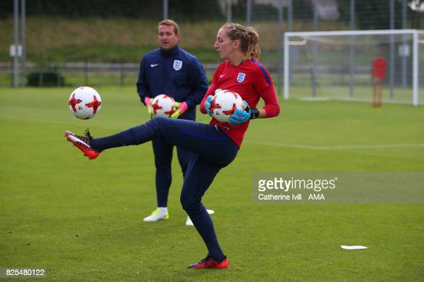 Siobhan Chamberlain of England Women during the England Training Session on August 2 2017 in Utrecht Netherlands