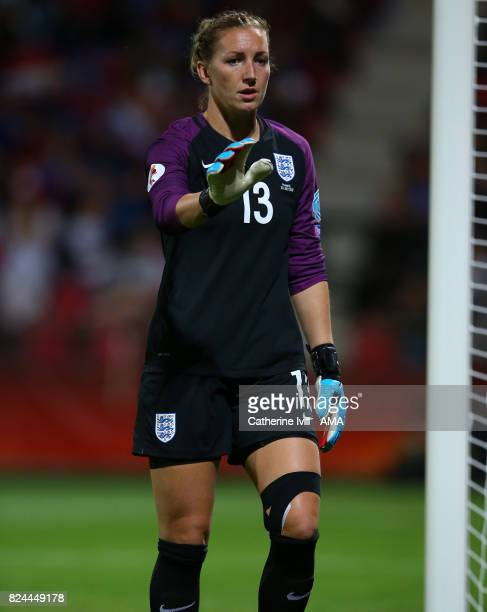 Siobhan Chamberlain of England Women during the UEFA Women's Euro 2017 match between England and France at Stadion De Adelaarshorst on July 30 2017...