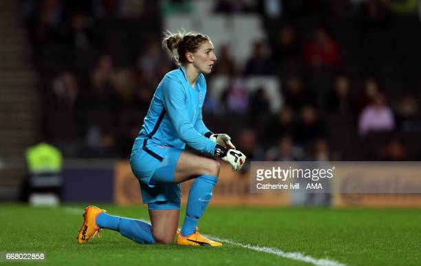 Siobhan Chamberlain of England Women during the Women's International Friendly match between England and Austria at Stadium mk on April 10 2017 in...