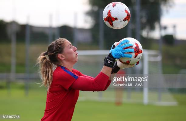 Siobhan Chamberlain of England Women in action during the England Training Session on August 2 2017 in Utrecht Netherlands
