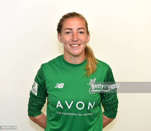Siobhan Chamberlain of Liverpool Ladies during a Photocall at Select Security Stadium on June 2 2017 in Widnes England