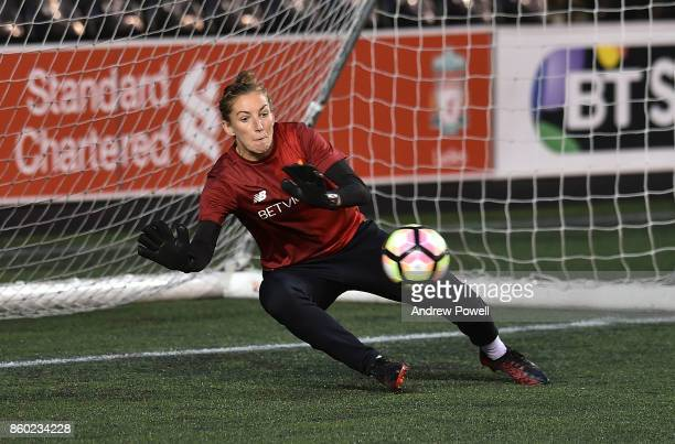 Siobhan Chamberlain of Liverpool Ladies warms up before the Women's Super League match between Liverpool Ladies and Sheffield FC Ladies at Select...