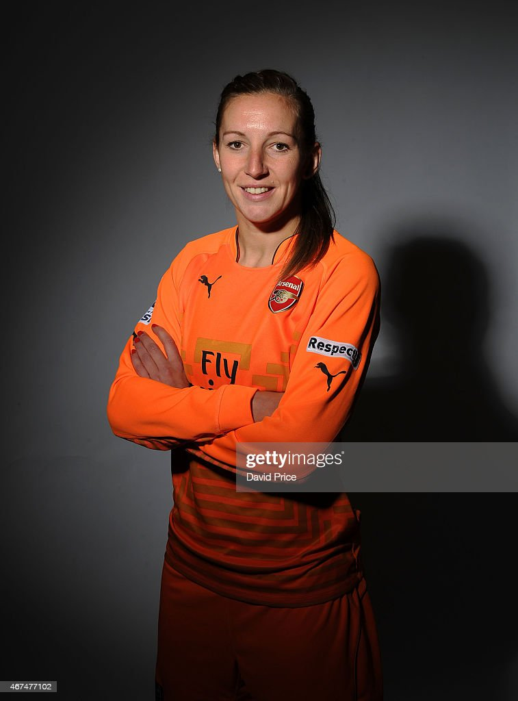 Siobhan Chamberlain of the Arsenal Ladies at London Colney on March 24 2015 in St Albans England