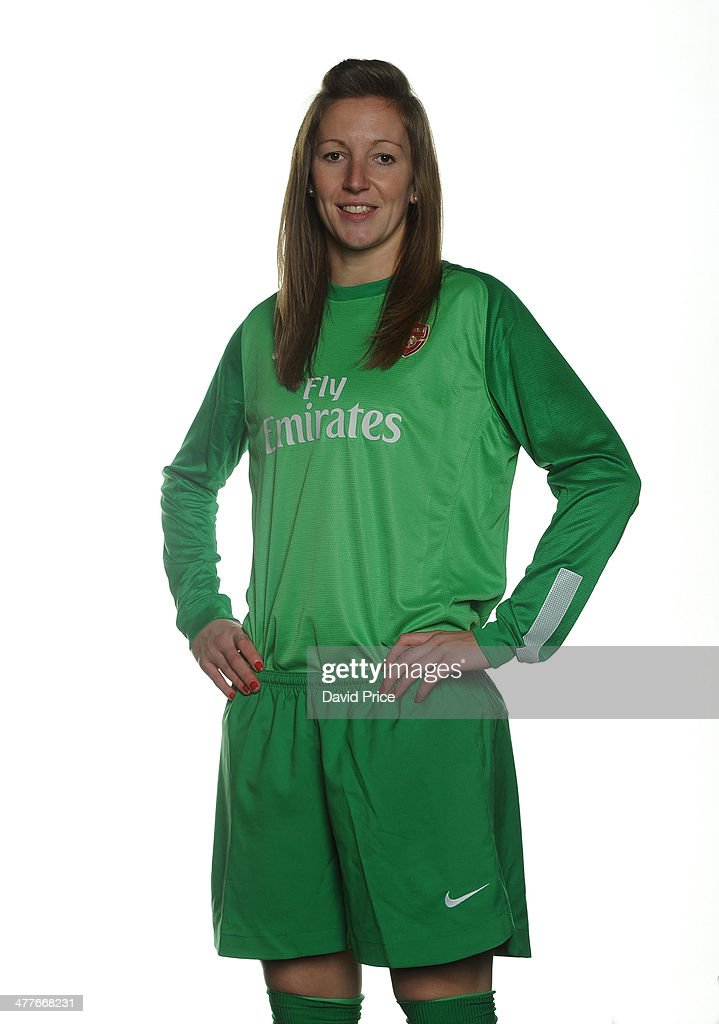Siobhan Chamberlain photographed during the Arsenal Ladies photocall at London Colney on February 25 2014 in St Albans England