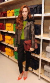 Siobhan Donaghy attends The Cambridge Satchel Company launch of their East London pop up store on December 5 2013 in London England
