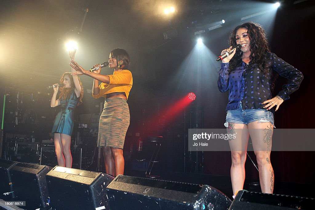 Siobhan Donaghy, Keisha Buchanan and Mutya Buena perform on stage at G-A-Y on September 14, 2013 in London, England.