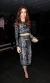 Siobhan Donaghy leaves The Sanderson Hotel after a London Fashion Week launch party on September 13 2013 in London England