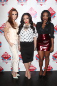 Siobhan Donaghy Mutya Buena and Keisha Buchanan of MKS pose in the winners room at the annual NME Awards at Brixton Academy on February 26 2014 in...