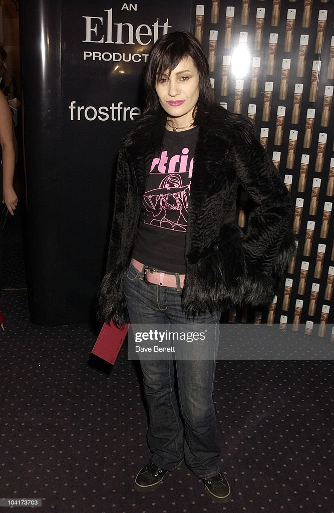 Siobhan Fahey, Frost French Fashion Tea Party At Bafta Cinema In Picadilly,turned The Normal Fashion Show On Its Head As The Audience Was Treated To A Film Of The Designers New Collection, London Fashion Week 2003