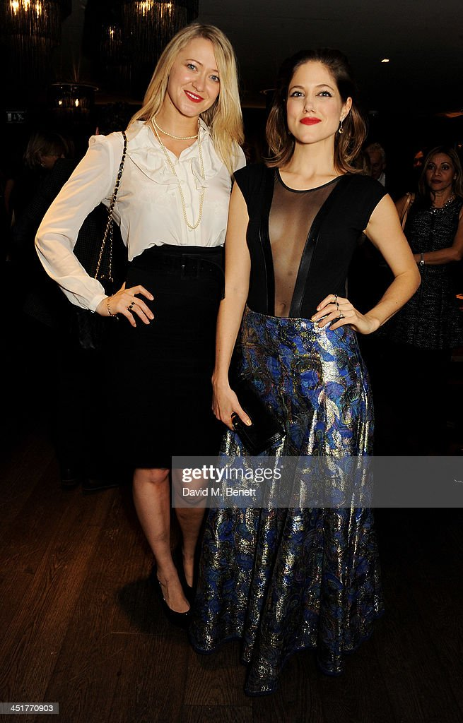 Siobhan Hewlett and Charity Wakefield attend an after party celebrating the UK Premiere of 'Day Of The Flowers' at The Mayfair Hotel on November 24...