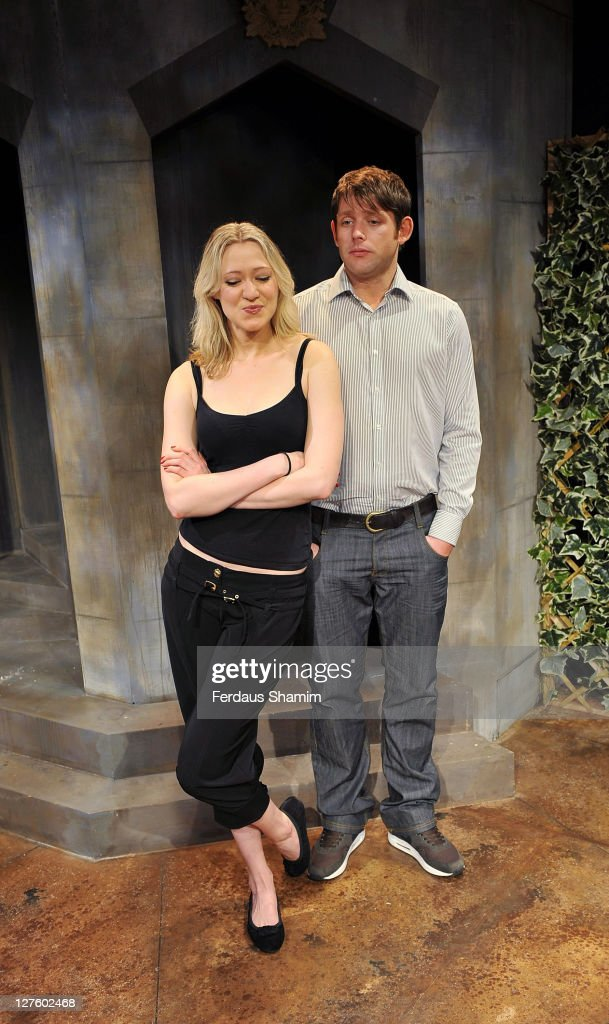 Siobhan Hewlett and Christopher Coghill promote Alan Ayckbourn's comedy 'Drowning On Dry Land ' at Jermyn Street Theatre on February 23 2011 in...