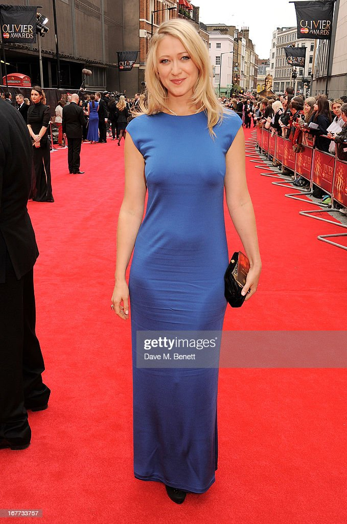 Siobhan Hewlett arrives at The Laurence Olivier Awards 2013 at The Royal Opera House on April 28, 2013 in London, England.