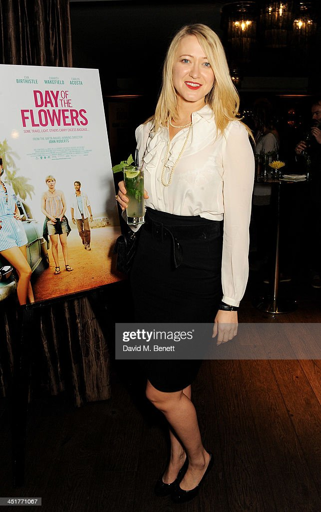 Siobhan Hewlett attends an after party celebrating the UK Premiere of 'Day Of The Flowers' at The Mayfair Hotel on November 24 2013 in London England