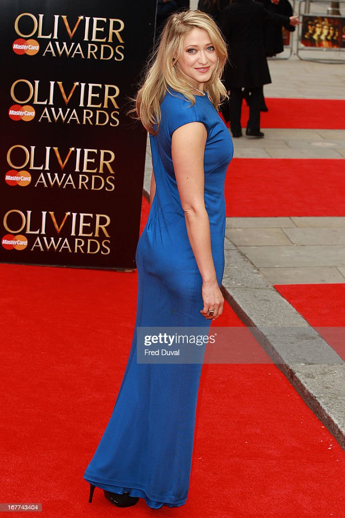Siobhan Hewlett attends The Laurence Olivier Awards at The Royal Opera House on April 28 2013 in London England