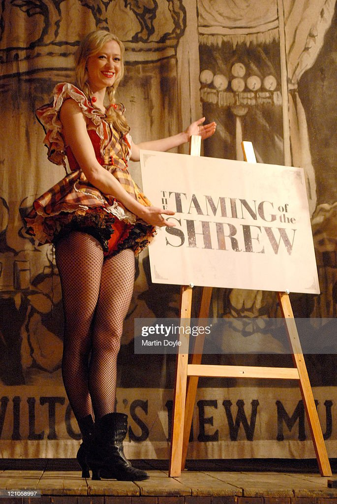 Siobhan Hewlett during 'The Taming Of The Shrew' Photocall at Wiltons Music Hall in London Great Britain
