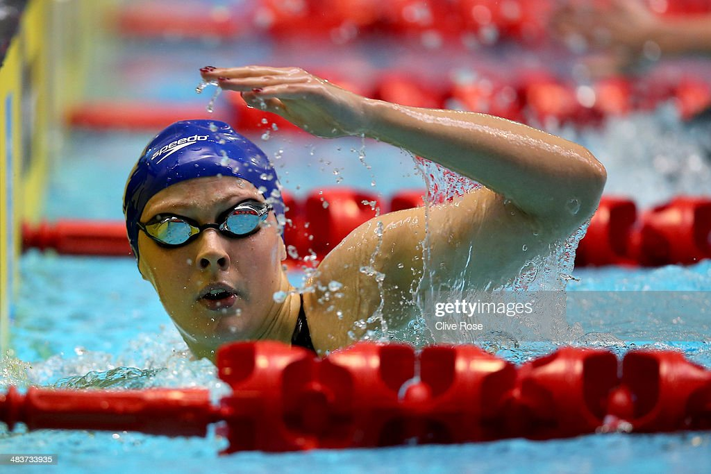 Siobhan-Marie O'Connor competes in the Women's 200m Freestyle heats on day one of the British Gas Swimming Championships 2014 at Tollcross International Swimming Centre on April 10, 2014 in Glasgow, Scotland.