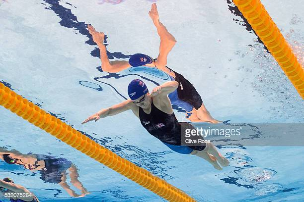 SiobhanMarie O'Connor of Great Britain competes in the Women's 200m Individual medley heats on day ten of the 33rd LEN European Swimming...