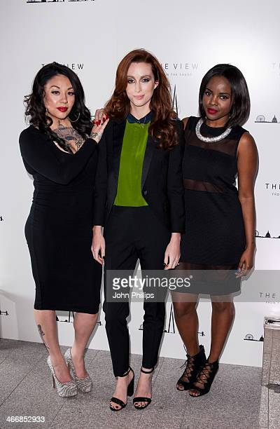 SiobhÃn Donaghy Mutya Buena and Keisha Buchanan attends the 1st birthday party at The View from The Shard on February 4 2014 in London England