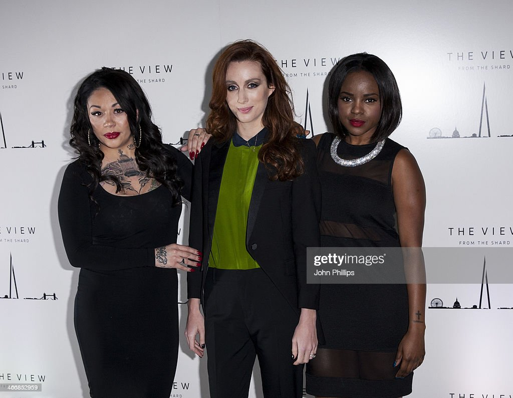 SiobhÃ(degrees)n Donaghy, <a gi-track='captionPersonalityLinkClicked' href=/galleries/search?phrase=Mutya+Buena&family=editorial&specificpeople=206601 ng-click='$event.stopPropagation()'>Mutya Buena</a> and Keisha Buchanan. attends the 1st birthday party at The View from The Shard on February 4, 2014 in London, England.