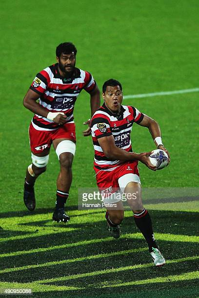 Sione Fifita of Counties Manukau makes a break during the round 8 ITM Cup match between Waikato and Counties Manukau on October 2 2015 in Hamilton...