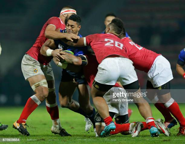 Sione Teaupa of Japan during the international match between Japan and Tonga at Stade Ernest Wallon on November 18 2017 in Toulouse Kanagawa France
