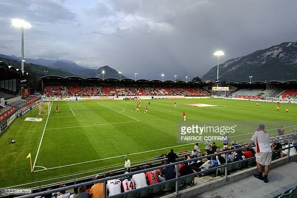 FC Sion's stadium Tourbillon is seen before the UEFA Europa League playoff second leg football match between FC Sion and Celtic FC on August 25 2011...
