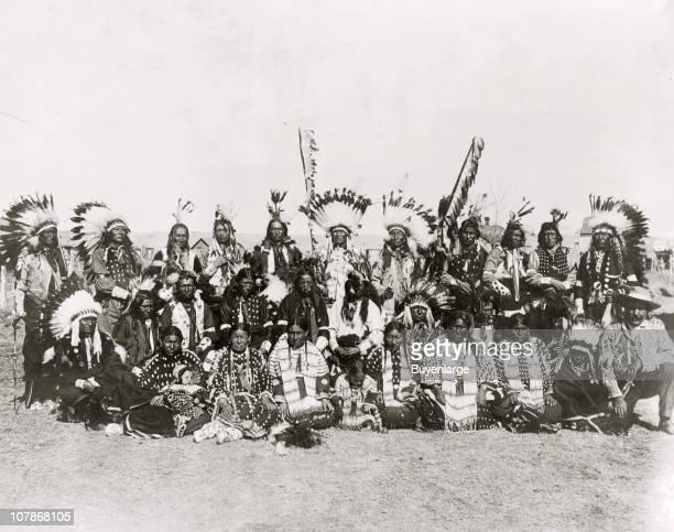 Sioux IndiansPine Ridge S D ' 1910