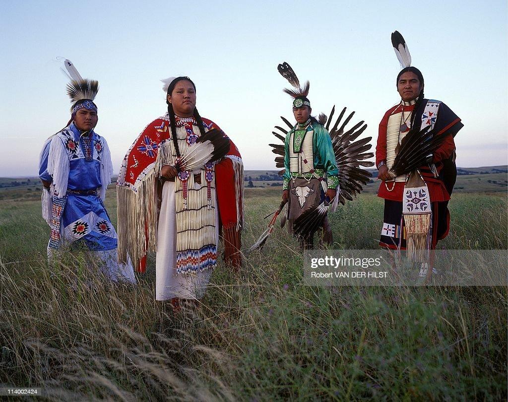Sioux Lakota in Rosebud Reservation In United States In April 2003