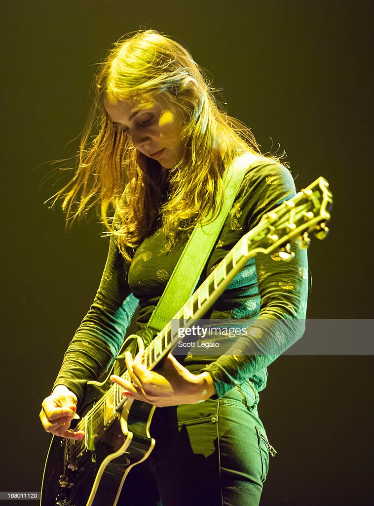 Siouxsie Medley of Dead Sara performs at Joe Louis Arena on March 2, 2013 in Detroit, Michigan.