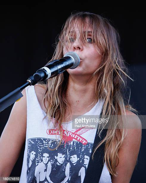 Siouxsie Medley of the Rock Band Dead Sara performs at the 2012 Sunset Strip Music Festival on August 18 2012 in West Hollywood California