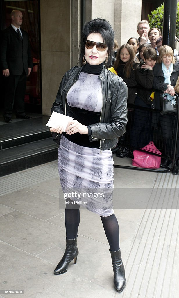 Siouxsie Sioux Arrives At The Ivor Novello Awards Arrivals At Grosvenor House Hotel In London.