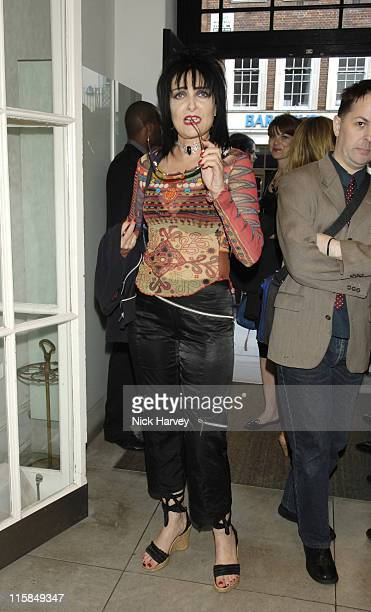 Siouxsie Sioux during PETA's Humanitarian Awards – Inside at Stella McCartney Store in London Great Britain