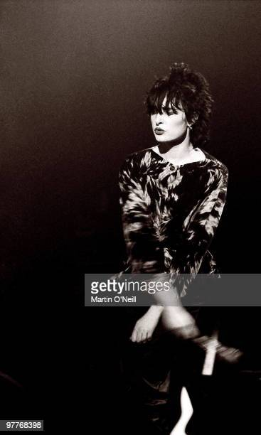 Siouxsie Sioux from Siouxsie And The Banshees performs live on stage at Manchester Apollo in 1980